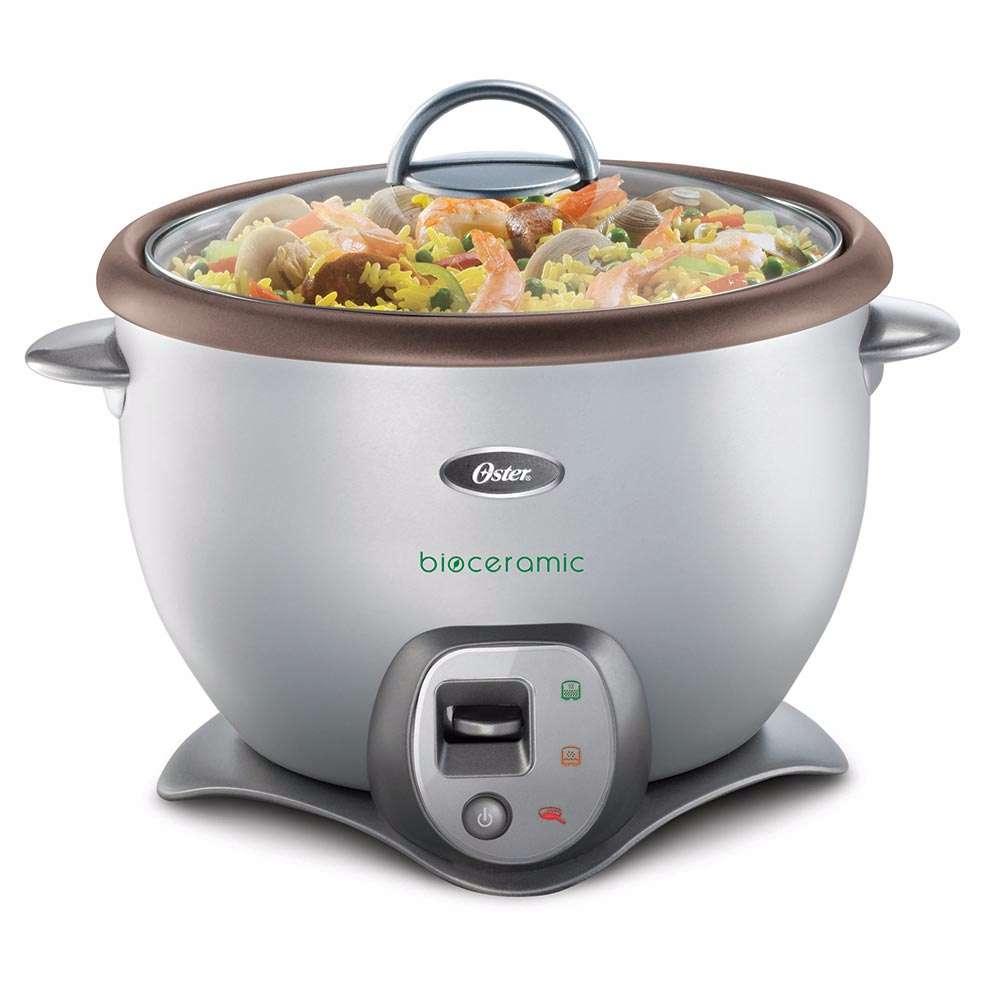 como preparar arroz en olla arrocera oster